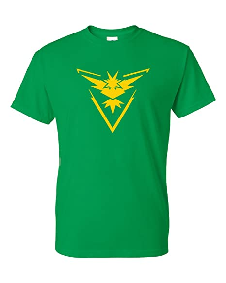 7dcf7b8e Pokemon Go Gym Team Instinct Yellow T-Shirt Green Small. Roll over image to  zoom in. Custom Apparel R Us