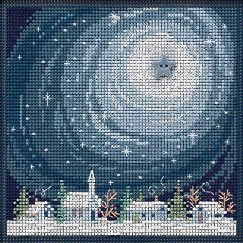 Beads Hill Buttons Mill - Winter Glow Beaded Counted Cross Stitch Kit Mill Hill Buttons & Beads 2019 Winter Series MH141933