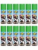 PACK OF 3 OR 6 OR 12 OR 24 HOT LOOK LDIES WOMENS MENS UNISEX FANCY DRESS NOVELTEY HAIR SPRAY 125ML BY ANGIES FASHION (Pack Of 6, Green)