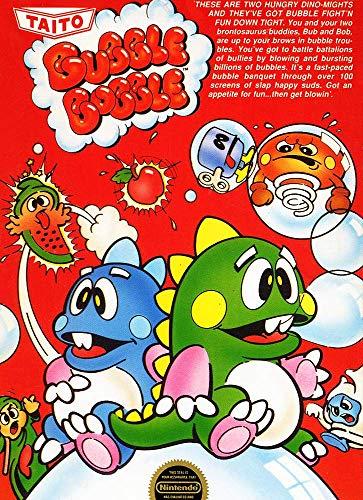 Bubble Bobble - Nintendo NES - Puzzle Game Bobble Bubble