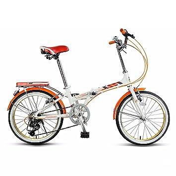 Bici plegable 7 velocidad variable 20 pulgadas estudiante adulto luz adolescente que lleva bicicleta (Color
