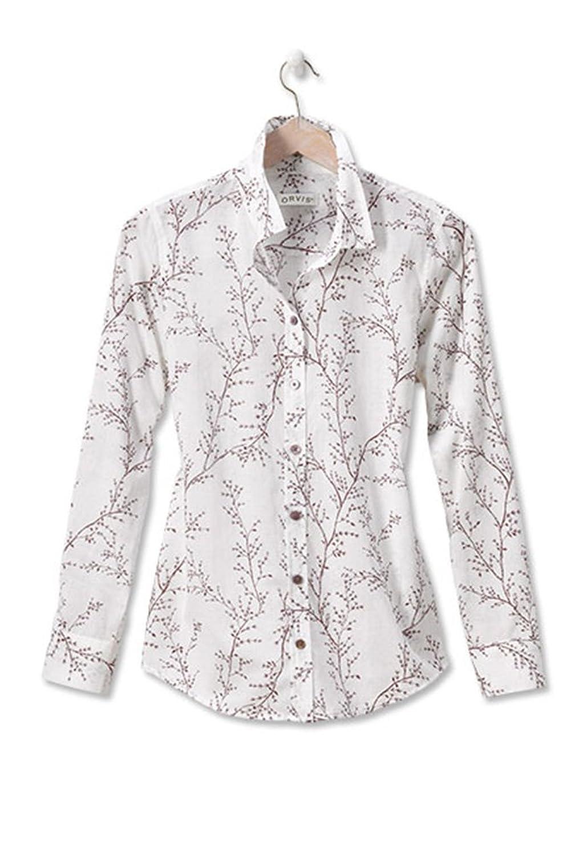 Orvis Women's Willow-print Cotton Voile Shirt