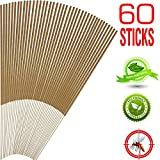 Mosquito Sticks, All Natural and DEET Free Insect Repellent, Eco friendly, Non toxic, Bamboo infused with Citronella, Lemongrass & grapefruit peel, for Outdoor Garden Yard and Indoor