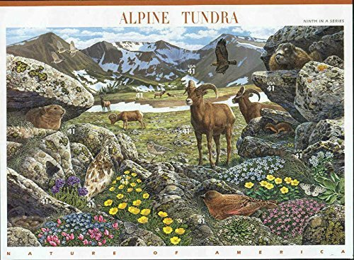 (Alpine Tundra (Nature of America): Full Sheet of 10 x 41-Cent Postage Stamps, USA 2007, Scott 4198)