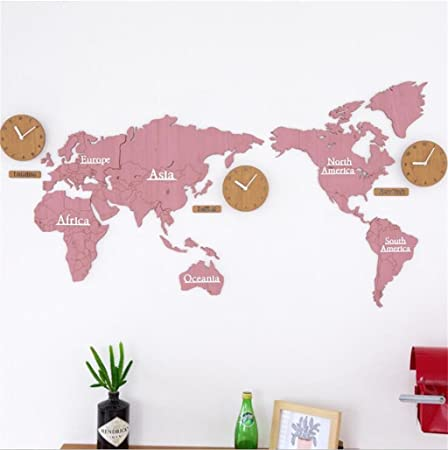 Nordic creative world map wood wall clocksuper large silent wall nordic creative world map wood wall clocksuper large silent wall stickers modern fashion diy gumiabroncs Image collections