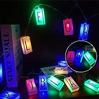 Letter Light Box String 78.7in Gloeiend In Het Donker Diy Monogram Logo, Happy Birthday Banner Verjaardag Vakantie…