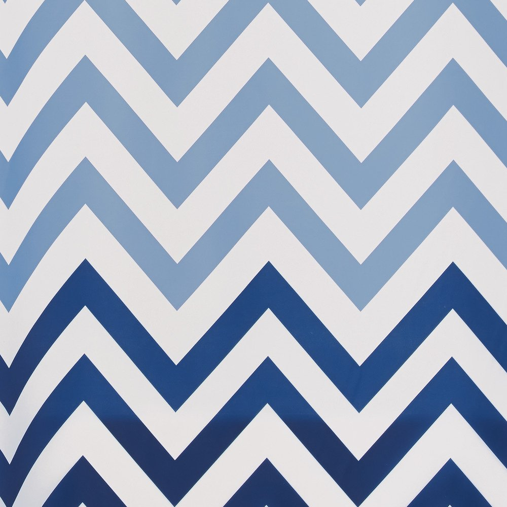 Amazon.com: InterDesign Ombre Chevron Fabric Shower Curtain, 72 ...