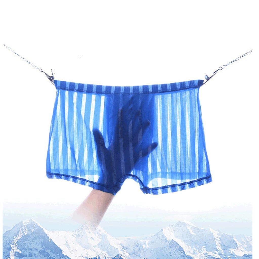 Men's Underwear Men's Four Corners Ice Silk Transpirable Transpirable Silk de una Sola Pieza U Convex Men's Boxer Briefs (Paquete de 3) (Tamaño : XL) 36d536