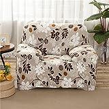 RUGAI-UE Sofa Slipcover Pure color elastic sofa cover antiskid sofa cover full cover four seasons garden sofa towel,Four person 235-300cm,Pollen family