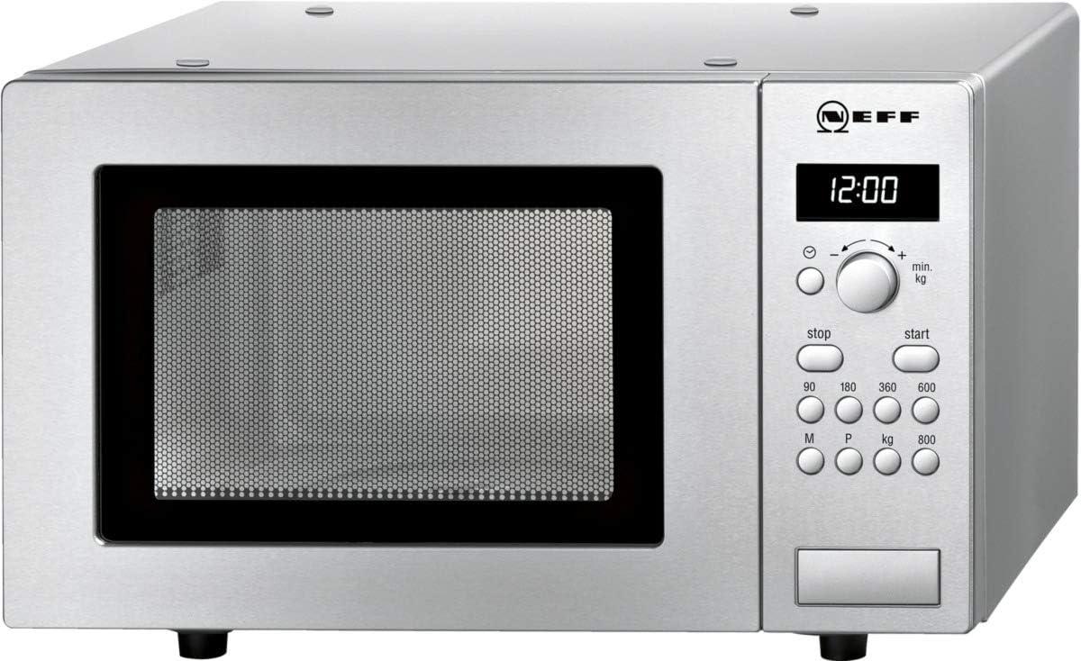 Neff H52W20N3 - Microondas (1270W, 230V, 50 Hz, 46,2 cm, 32 cm, 29 cm) Acero inoxidable