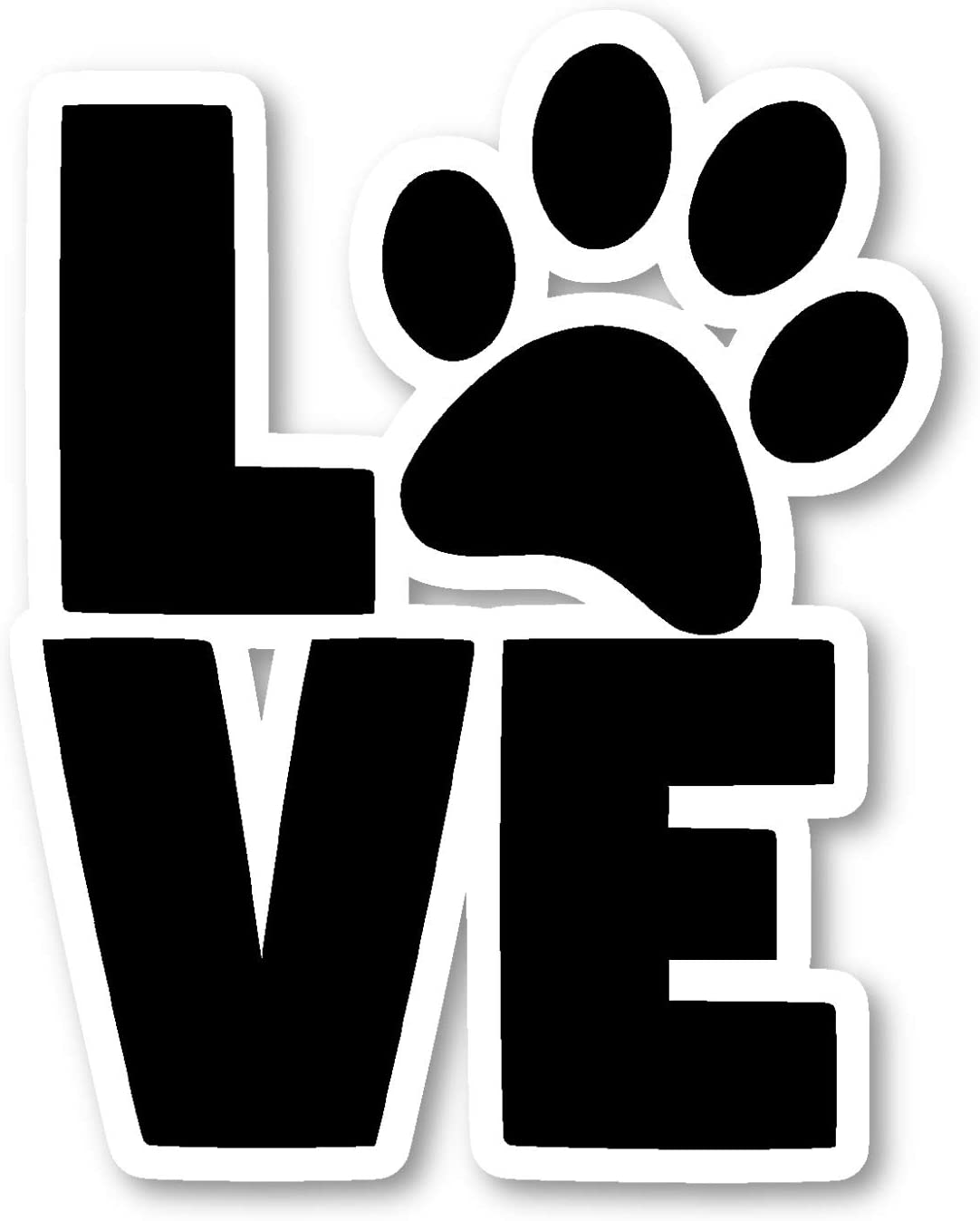 Dog Love Paws Sticker Dog Stickers - 2 Pack - Laptop Stickers - 2.5