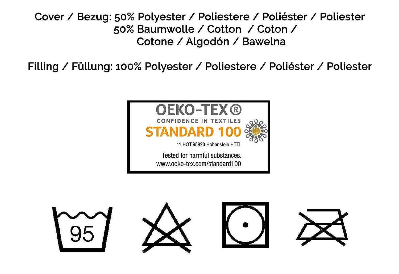 hypoallergen 35x40 cm wei/ß Zollner Kinder und Baby Kopfkissen /ÖKO-TEX