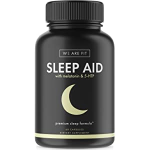 Sleep Aid Pills with Melatonin & 5 HTP, Support Supplement for Sleeping Well & Feeling