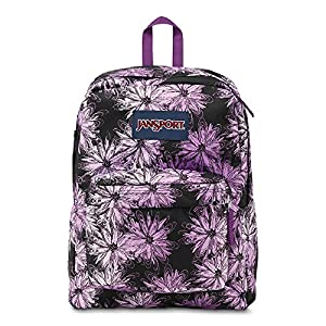 Classic Jansport Superbreak Backpack (Multi Purple Ombre Daisy (T5010AD))