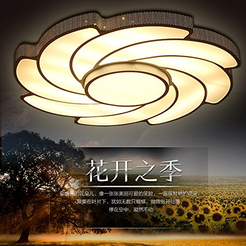 YPOSION Minimalist modern ceiling light floral personalized living room lighting remote round creative brief OSCE rooms bedroom lighting,diameter - Lamp Floral 800 Pendant