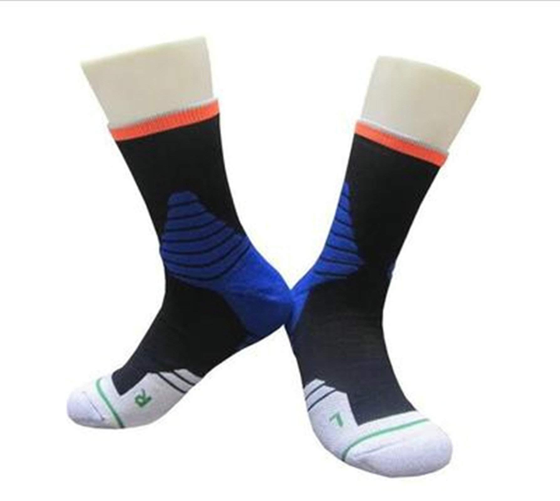 Aooaz Winter Warm Socks 3 Pairs Basketball Socks Thicken High Tube Sports Socks Run Climbing Colorful M