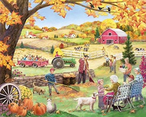 Vermont Christmas Company Countryside Autumn Jigsaw Puzzle 1000 Puzzle ()