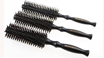 OSM&LX Natural Boar Bristles Hair Brush Pairs Round Curling Combs For Short To Long Hair Hair