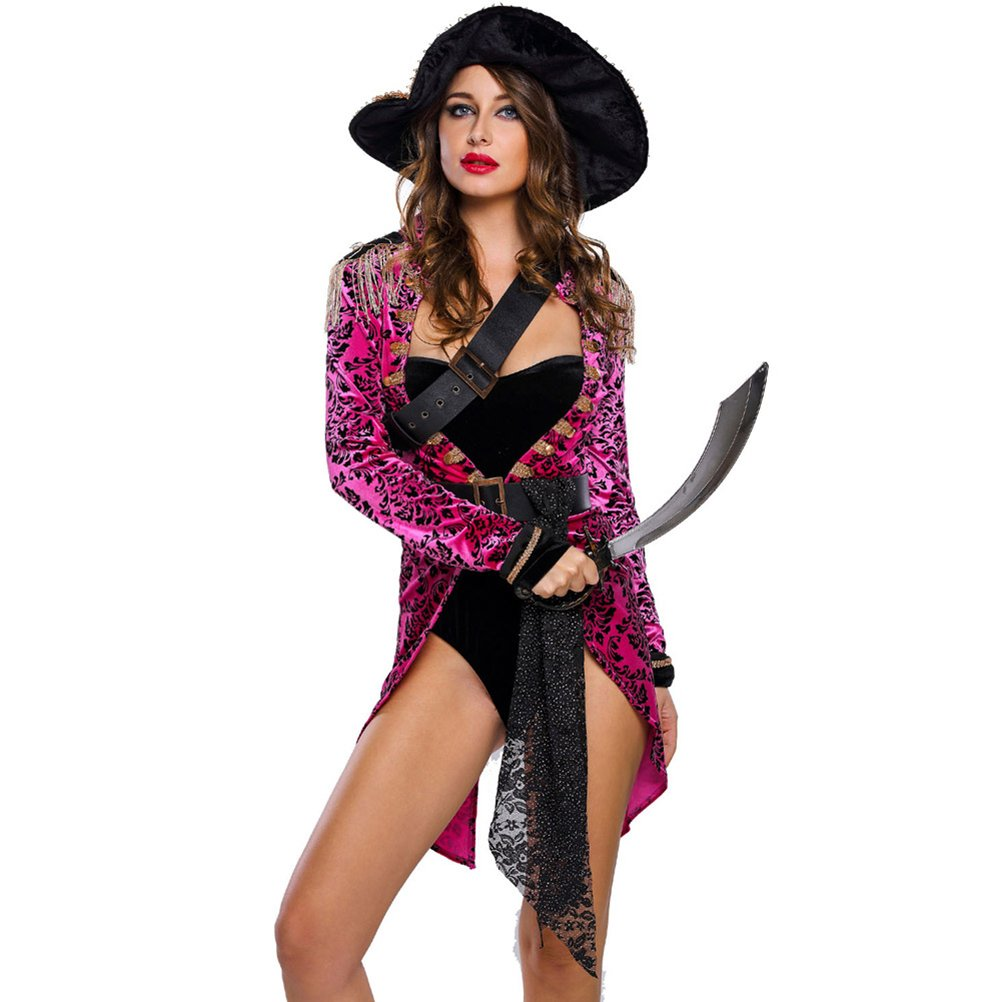 BYY Sexy Swashbuckler Halloween Pirate Costume(Size,L) by BYY