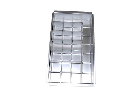 Anokay aluminio Bandeja de horno rectangular Torta bandeja ajustable antiadherente para grandes letras alfabeto números DIY bicarbonato formas set ...