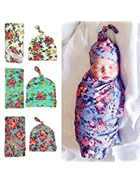 Babe Maps Newborn Swaddle Receiving Blankets,Swaddle Cocoon,Blanket&Hat Set