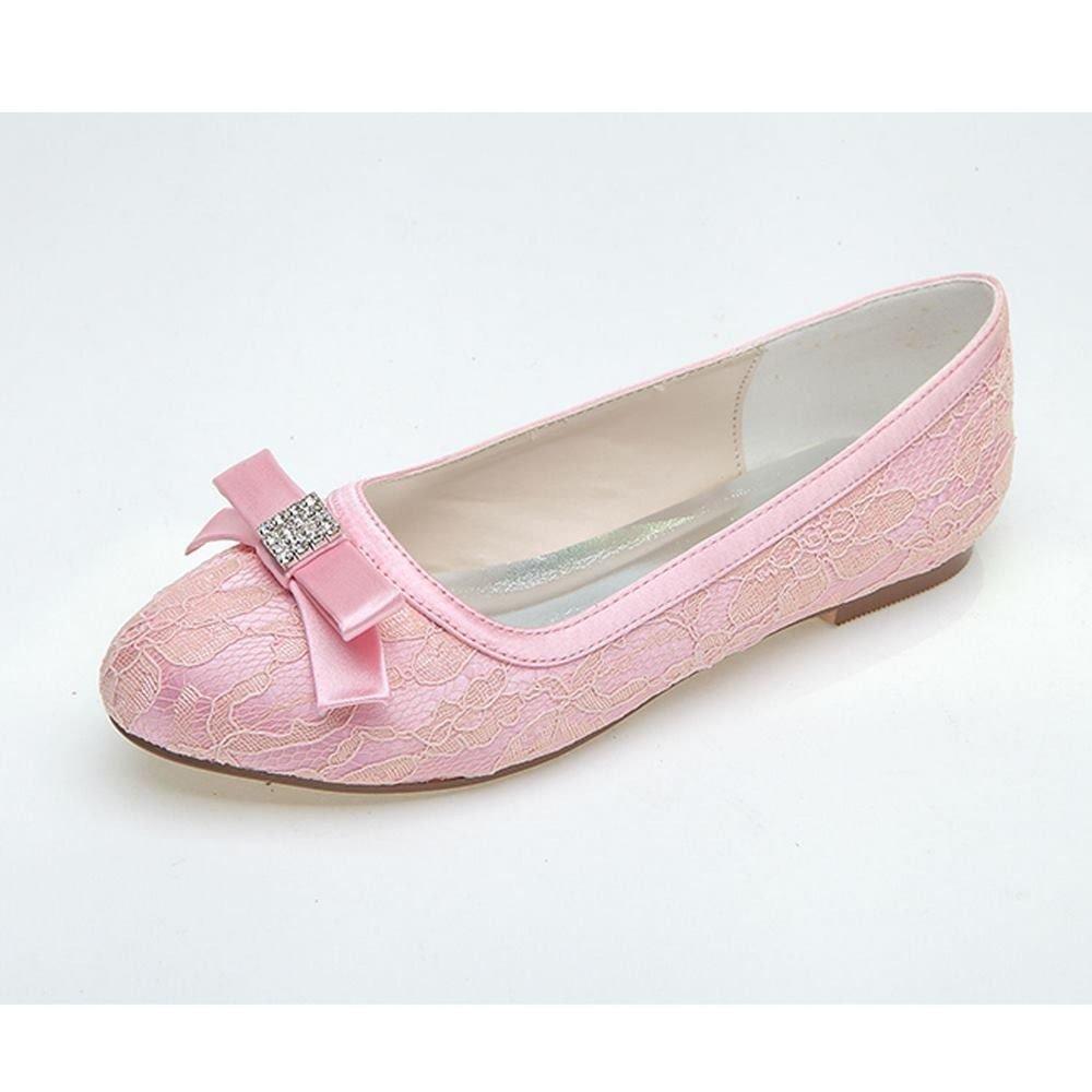 009922b21e3c Amazon.com  Qingchunhuangtang  Tip flat footwear white single shoe lace  luxury wedding shoes bridal shoes