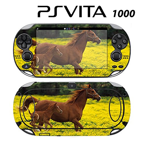 Decorative Video Game Skin Decal Cover Sticker for Sony PlayStation PS Vita (PCH-1000) - Cute Baby Horse Running with Mom -  Decals Plus, PV1-AN27