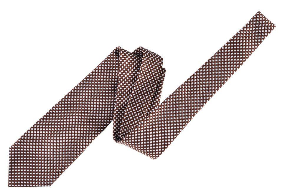 Tom Ford Copper Polka Dot Silk Skinny Neck Tie