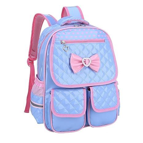 548b6540e14e8 Kaxich Kinder Mädchen Rucksack Schulrucksack PU-Leder Prinzessin Stil  Schultaschen Kinderrucksack für Teenage Maedchen 9
