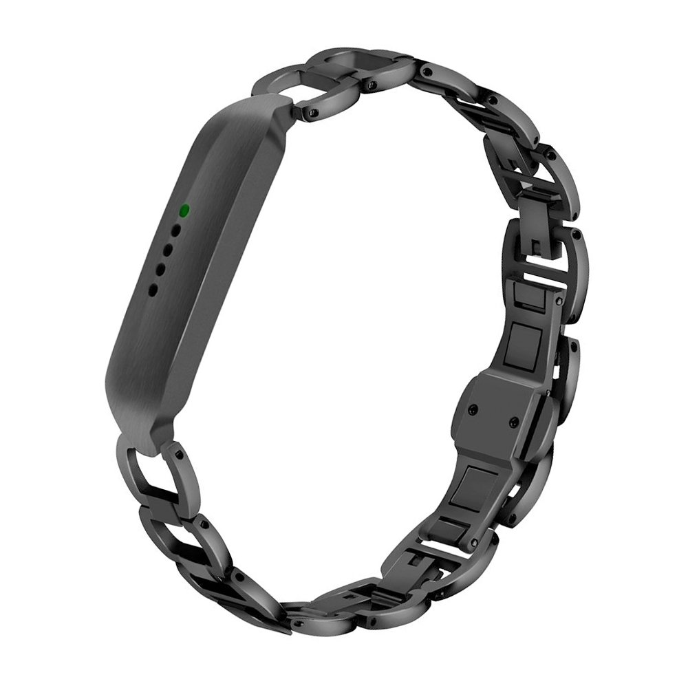 CUZOW for Fitbit Flex 2 Band Women Men, Stainless Steel Metal Replacement Wristband for Fitbit Flex 2 Smart Watch Black