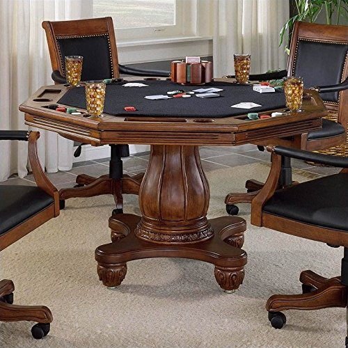 Hillsdale Furniture 6004GTB Kingston 57'' Game Table with Cup-holder Carved Detailing and Molding Detail in Light by Hillsdale Furniture