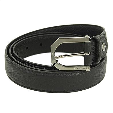 sale retailer 56ab5 53ec1 Amazon   BVLGARI (ブルガリ) ベルト メンズ オクト ブラック ...