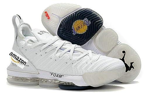 Off White X Lebron 16 Foam White Zapatillas de Deporte para Hombre: Amazon.es: Zapatos y complementos