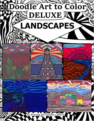 Descargar Libros Para Ebook Doodle Art To Color Deluxe: Landscapes: Volume 4 It Epub