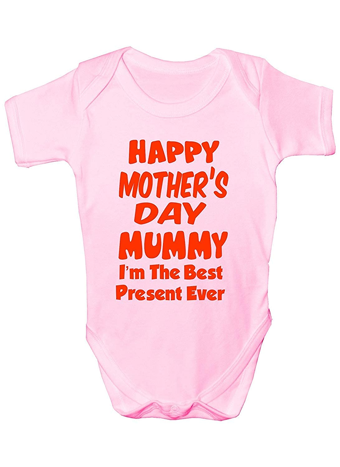 Mesllings Happy Mothers Day Im The Best Present Babygrow Size 0-18 Months