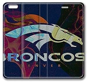 NFL Denver Broncos Sports iPhone 6 Case,Leather iPhone 6 Cover Case Kimberly Kurzendoerfer