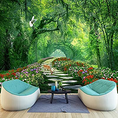 XLi-You 3D Forest Road Landscape Trees Tv Background Wallpaper Living Room Bedroom Modern Minimalist Paintings
