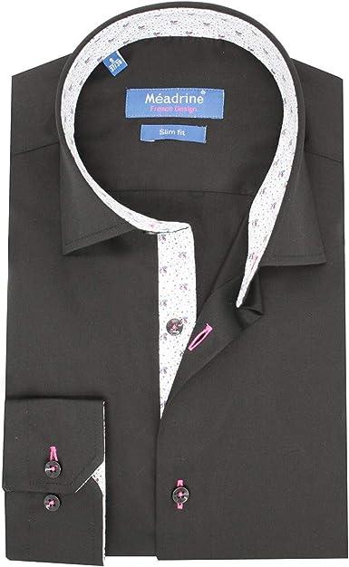 Meadrine - Camisa Negra para Hombre y Dibujo: Amazon.es: Ropa y accesorios