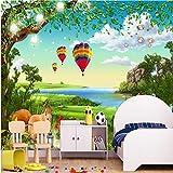 LHDLily 3D Wallpaper Mural Wall Sticker Thickening Custom Photo Landscape Forest Squirrel Children Room Kids 350cmX250cm