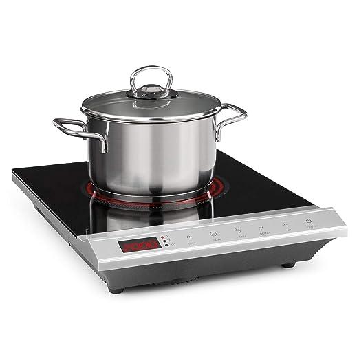 Klarstein MisterCook placa de cocina - Cocina de inducción , 2000 W , 8 niveles de potencia y de temperatura , Pantalla LED , Autoapagado , Seguro ...