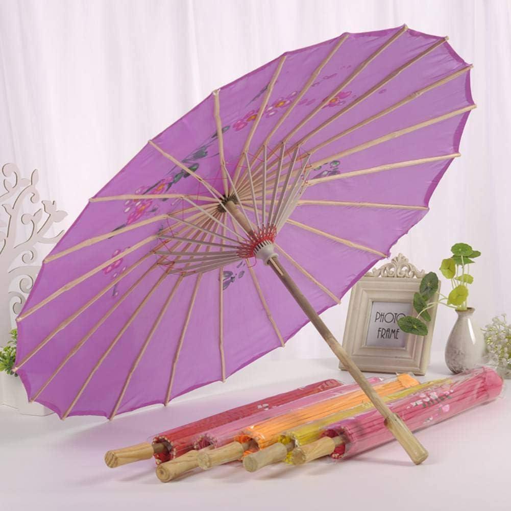 Loveablely Fleur Impression Ombrelle Chinoise D/écor Oriental Parapluie Parasol