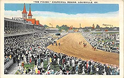 The Finish, Churchill Downs Louisville, Kentucky, KY, USA Old Vintage Horse Racing Postcard Post Card