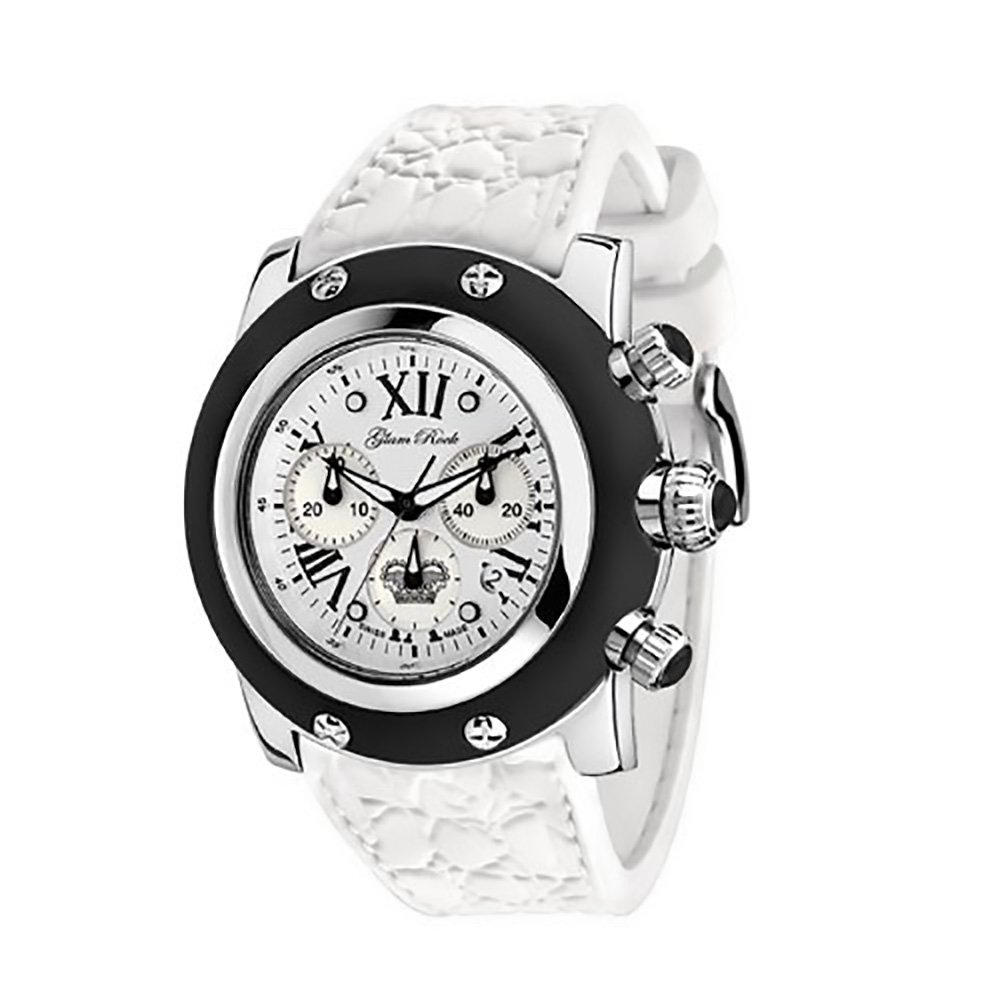 Glam Rock Women's GR30108 Summer Collection Chronograph Black Silicone Watch