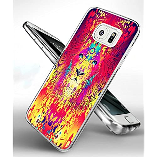 S7 Edge Case Lion,Samsung Galaxy S7 Edge TPU Soft Clear Full Protective Case - Design of Beautiful Lion Sales