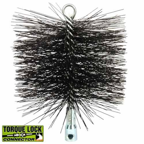 """Round Master Sweep Chimney Wire Brush with TLC - 8"""""""