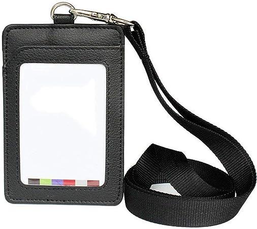 Imitation cuir avec porte-cartes de visite pour carte didentit/é//Badge Lot//Etui Noir de 10