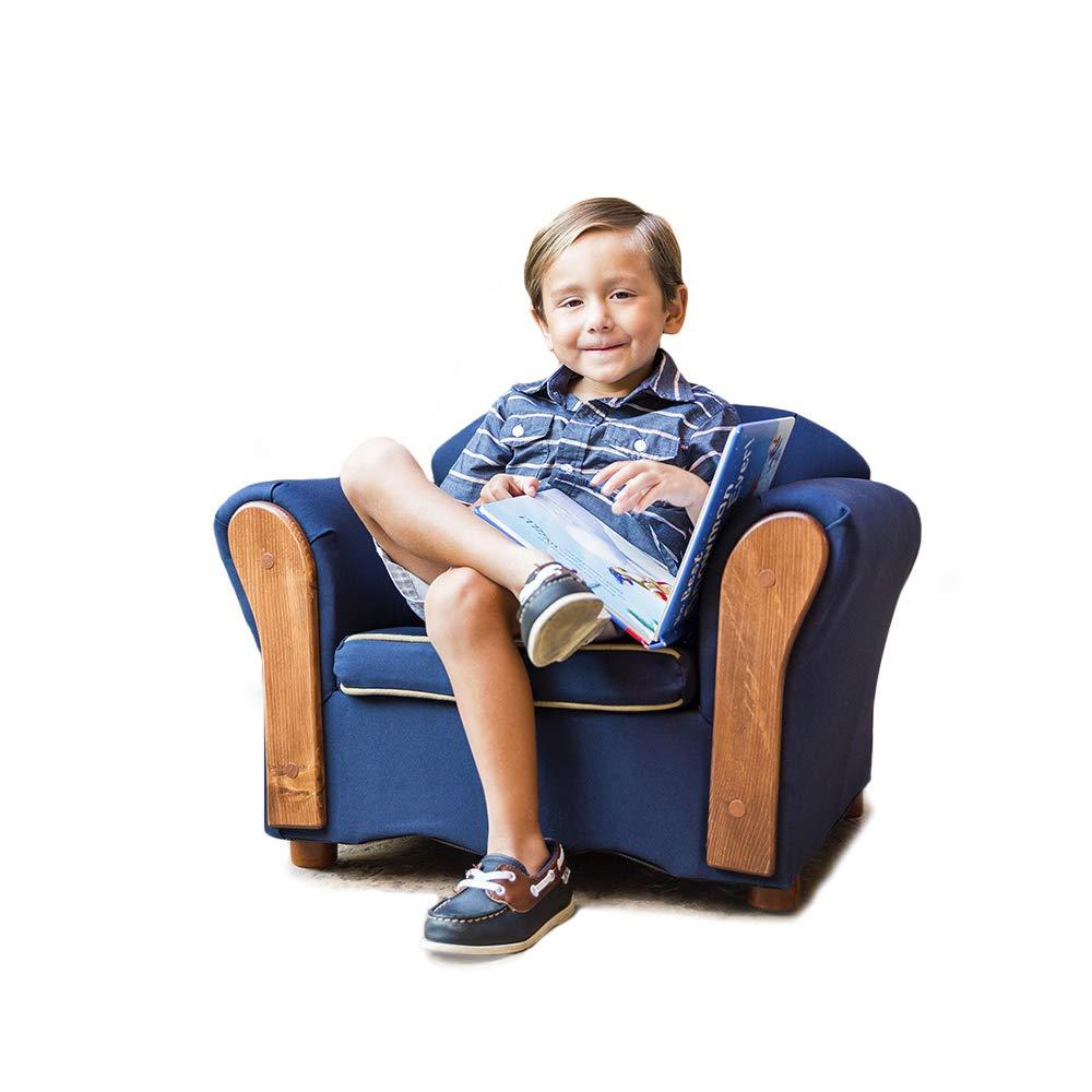 KEET Homey VIP Organic Kid's Chair, Navy Blue