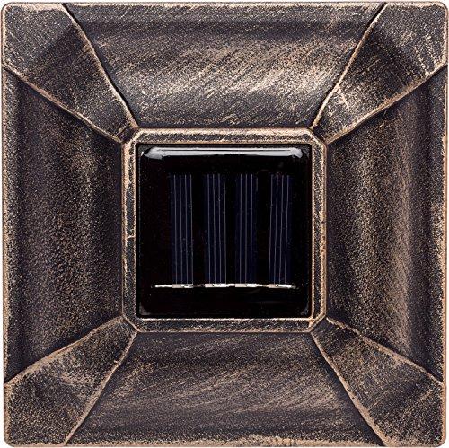 Paradise GL28998BZ Solar Cast Aluminum LED Post Cap Light for 4x4 Wood Posts (Bronze, 6 Pack) by Paradise (Image #3)