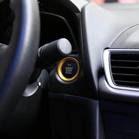 ZHUOTOP Anillo embellecedor para botón de arranque del motor, para salpicadero de automóviles, color