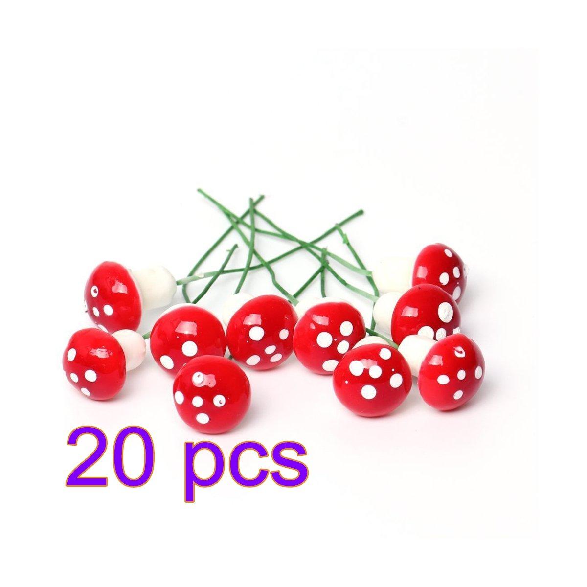 gespout fungo Mignon fungo in miniatura in decorazione per Micro Paesaggio Giardino DIY Bonsai Paesaggio in miniatura rosso, 1PCS, 1 pcs